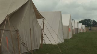 Reenactment Tent Line