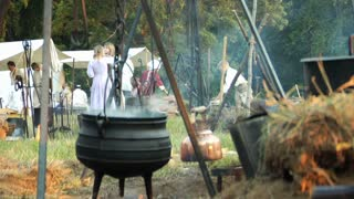 Reenactors Camp Cooking Pot