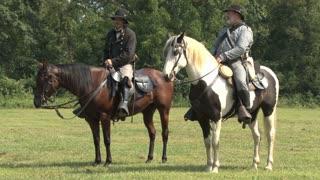 Reenactors on Horses