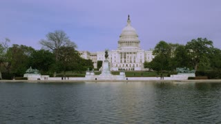 Reflection Pool On US Capitol Grounds
