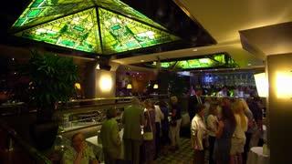 Restaurant Patrons Mingling
