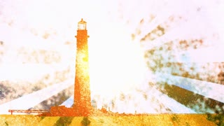 Retro Lighthouse Golden