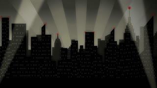 Retro Noir Cityscape Premiere Searchlights