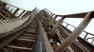 Reversed Clip of Roller Coaster Ride Turns