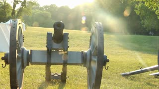 Revolutionary War Cannon Sun Flare