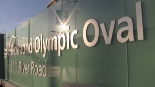 Richmond Olympic Oval Sign in Vancouver 3