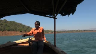 Riding Boat In India