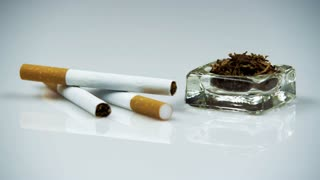 Right to Left Pan of Group of Cigarettes