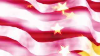 Rippling American Flag With Golden Stars