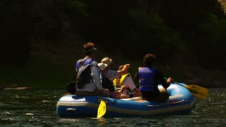 River Rafting In The Mountains