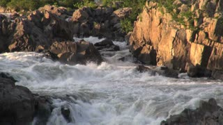 River Rapids and Rocks in Evening Light 1