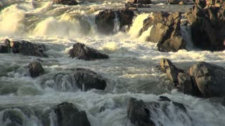 River Rapids Gushing Around Rocks 2