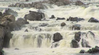 River Rapids Gushing Around Rocks 4