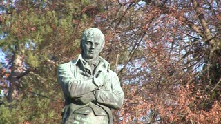 Robert Burns Statue in Stanley Park in Vancouver