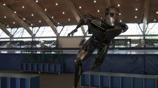 Robotic Statue of an Olympic Skater in Vancouver