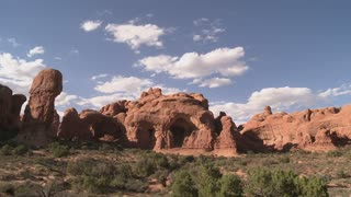 Rock Arch and Cloud Timelapse