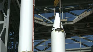Rocket Engine Propulsion Lifted By Crane