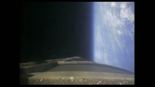Rocket View Spinning in Upper Atmosphere