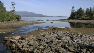 Rocky Beach in Alaska