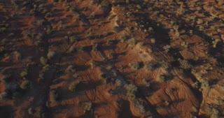 Rocky desert landscape aerial