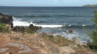Rocky Edge of Hawaii by the Pacific Timelapse
