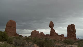 Rocky Landscape Sweeping Clouds
