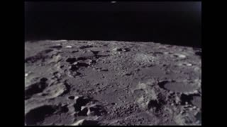 Rocky Moon Surface From Lunar Module