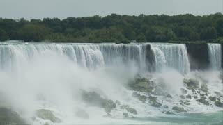 Rocky Niagara Falls Landscape