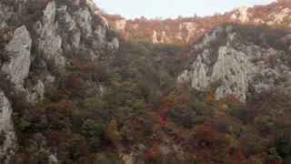 Rocky Side of Mountain in Romania