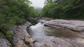 Rocky Stream Shrouded In Mist, Blue Ridge Mountains