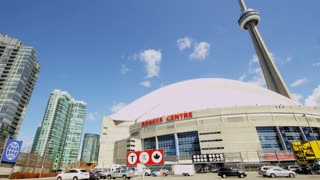 Rogers Centre in Front of CN Tower in Toronto