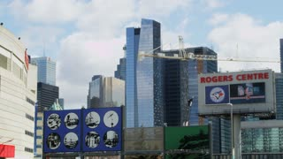 Rogers Centre Sign and Downtown Area