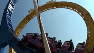 Roller Coaster Goes Through Loops