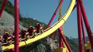 Rollercoaster Doing a Flip