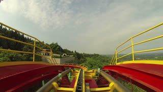 Rollercoaster Flip POV from Front