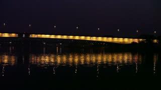 Romanian Bridge At Night