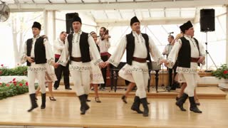 Romanian Dancers Performing On Stage