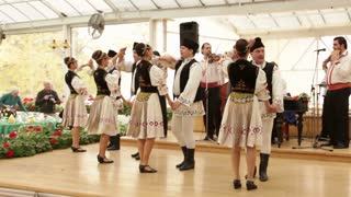 Romanian Dancers Performing