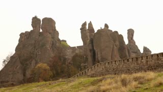Romanian Rock Castle and Wall