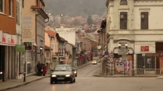 Romanian Town Going Up Hillside