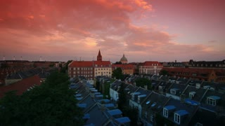 Rooftop View of Copenhagen at Sunset