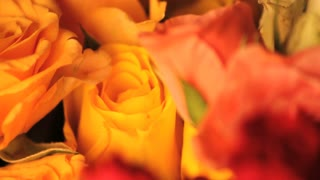 Rose Bouquet Spinning Close Up