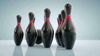 Rotating Around Bowling Pins and Bowling Ball