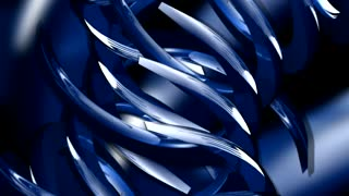 Rotating Blue Abstract Shapes