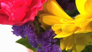 Rotating Bright Colored Flower Bouquet