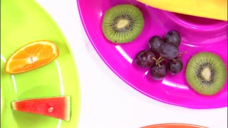 Rotating Closeup of Fruit Assortment
