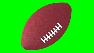 Rotating Football Green Screen 2