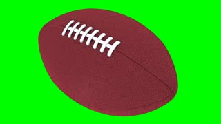 Rotating Football Green Screen 3