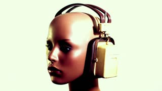 Rotating Mannequin Headphones