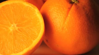 Rotating Oranges Close Up